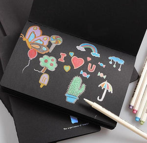 Black Paper Sketchbook - A4/A5 - 30 sheets - Almost Artist