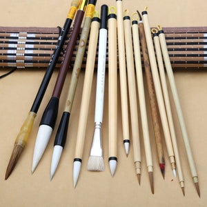 Freehand Painting Brush With Bag -  13/set - Almost Artist