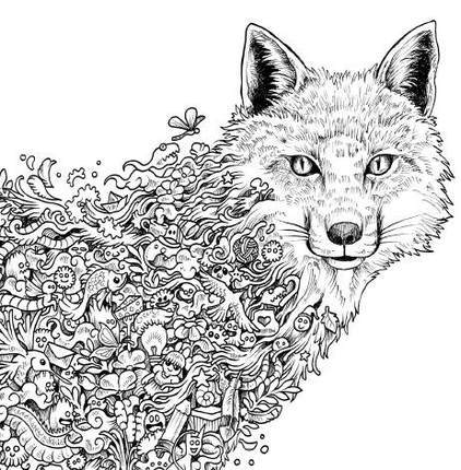 Animorphia Coloring Book To Relieve Stress