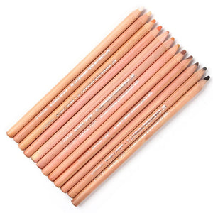 12 Soft Skin Toned Pastel Pencils - Almost Artist