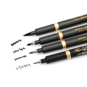 Calligraphy Brush Pens - 4/Set - Almost Artist