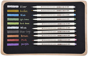 STA™ Metallic Brush Pen - 10 Vibrant Colors - Almost Artist