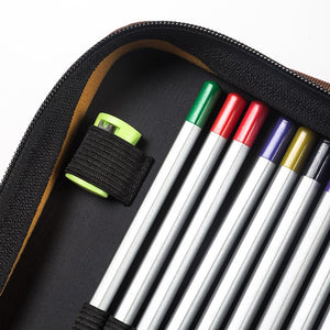 Leather Pencil Case - 160 Pencil Slots - Almost Artist