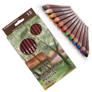 12 Professional Soft Pastel Pencils - Almost Artist