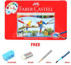 Faber-Castell™ Watercolor Pencil Set - Special 48 Set in Metal Box - Almost Artist