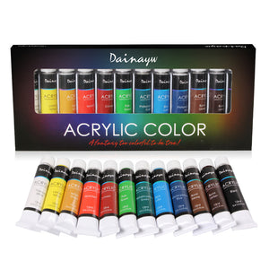 Dainayw™  Acrylic Paints Set - 12 colors - Almost Artist