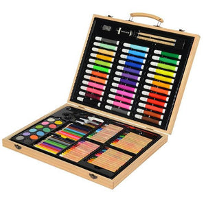 Deluxe Wooden Art Set for Kids - 132 Pieces/set - Almost Artist