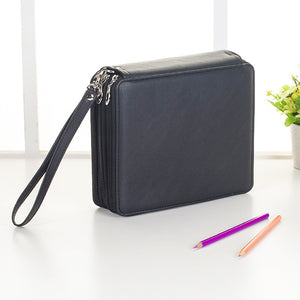 Leather Pencil Case - 124 Pencil Slots - Almost Artist
