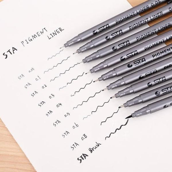 STA™ Pigment Liner Pen - 9 Sizes - Almost Artist