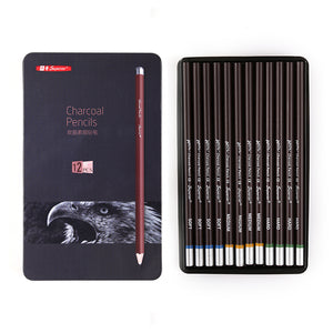 Professional Sketch Charcoal Pencils - 12/Set - Almost Artist