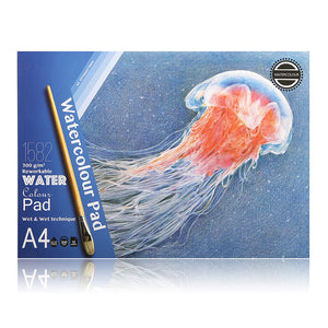 Premium Watercolor Paint Paper Book - 300g/m2 - 12 Sheets - Almost Artist