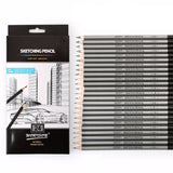 Artist Grade 12/24Pcs 9H-14B Art Pencil Set - For Sketching & Drawing