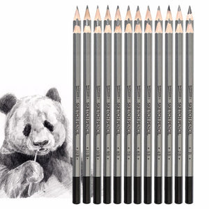 Artist Grade 12/24Pcs 9H-14B Art Pencil Set - For Sketching & Drawing - Almost Artist