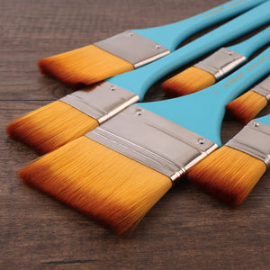 Nylon Flat Head Painting Brushes - Almost Artist