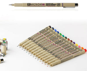 SAKURA™ Pigma Micron Colored Pens - 14 colors - Almost Artist
