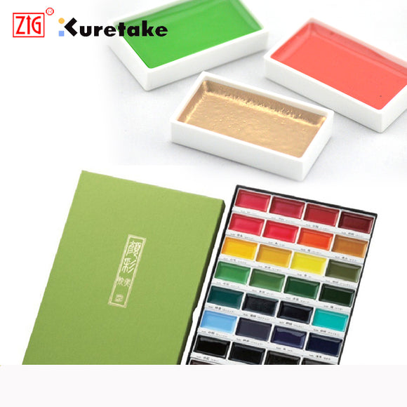 ZIG Kuretake™ GANSAI TAMBI WATERCOLOUR Set - 12/18/24/36/