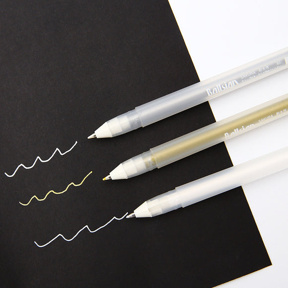 SAKURA™ Gel Pen Higlighters - White/Silver/Gold - Almost Artist