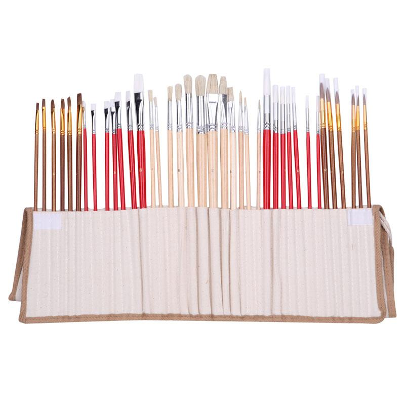 38 Pieces Brush Set With Canvas Bag