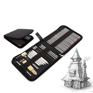 Professional Sketch & Drawing Set - Case & All Items Included - Almost Artist