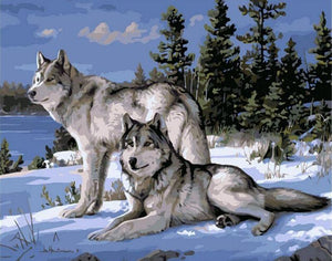 Wolf-pack DIY Painting By Numbers