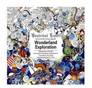 Coloring Book - Wonderland Exploration - Almost Artist