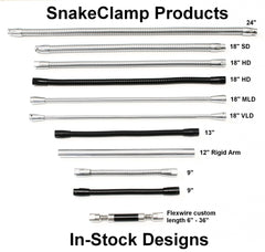 In-stock flexible gooseneck tube designs by SnakeClamp Products