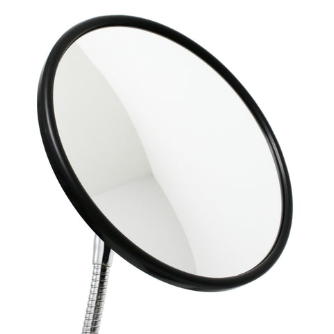 "8-1/2"" Round Convex Mirror for attaching to SnakeClamp brand flexible gooseneck tubes"