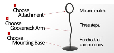 amp magnifying glass with stand - flexible gooseneck arm and round base