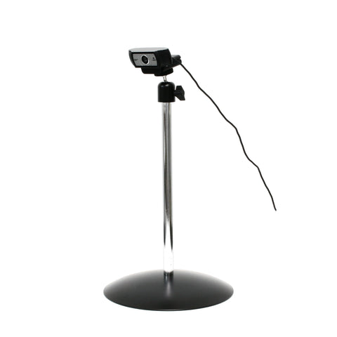 SnakeClamp Rigid Arm Webcam Stand with Round Base