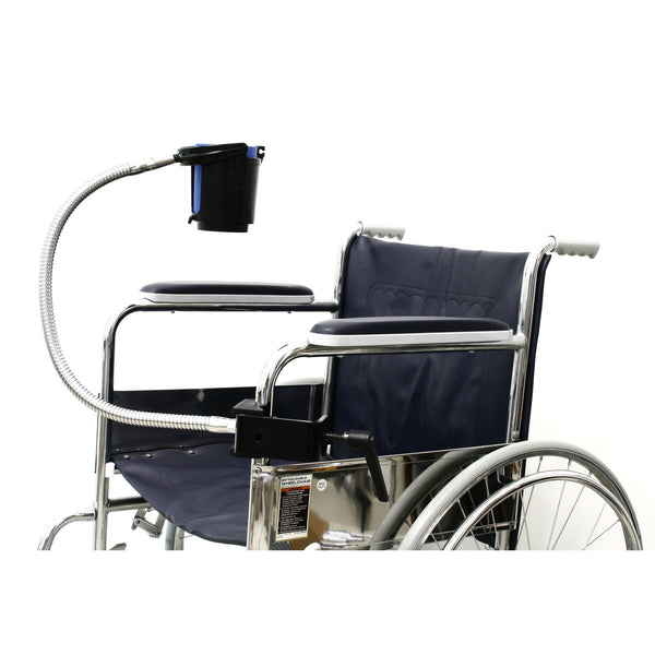 "SnakeClamp 24"" Heavy-Duty Flexible Arm Cup and Drink Holder with Megaclamp for Wheelchairs, Strollers, Hospital Beds"