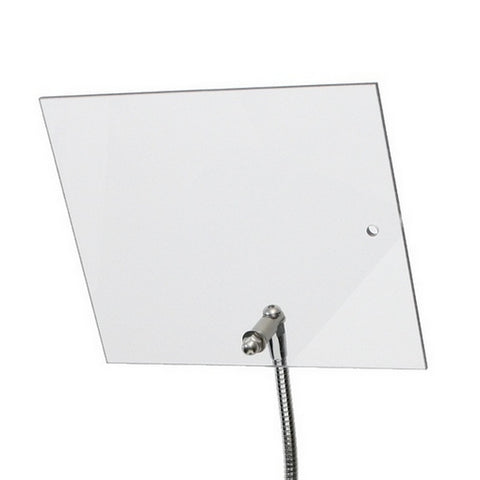 "Machine Guard Shield 10"" x 12"" shown attached parallel to flexible gooseneck arm"