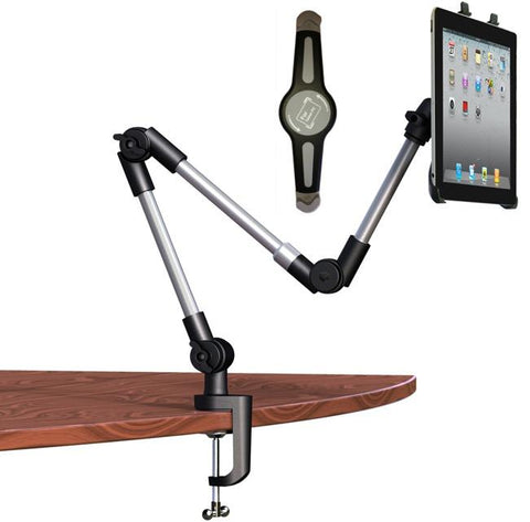 Cobra Clamp, Extra Large Adjustable Tablet PC Mount iPad and Tablet mount stand