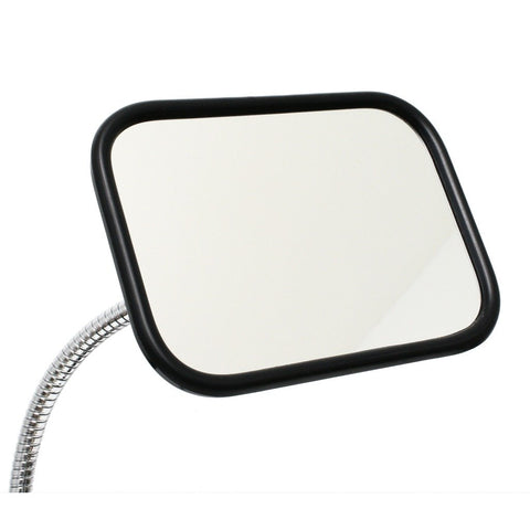 "5-1/2"" x 7-1/2"" mirror shown attached to SnakeClamp flexible gooseneck arm"