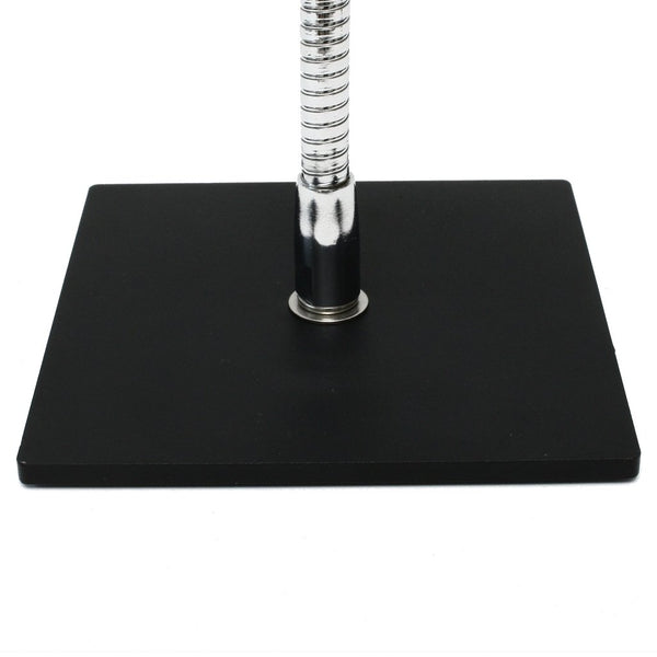 "6"" x 6"" steel Square Base flexible gooseneck tube mounting base option from SnakeClamp Products"