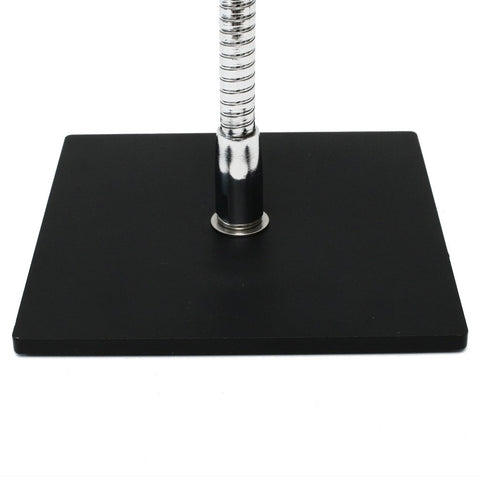 "6"" x 6"" Square Base mounting options shown with flexible gooseneck arm attached"