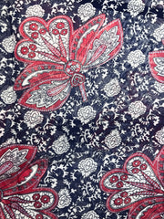 Black and Red Paisley Print