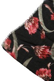 Lulla Collection Red and Black Floral Print Scarf
