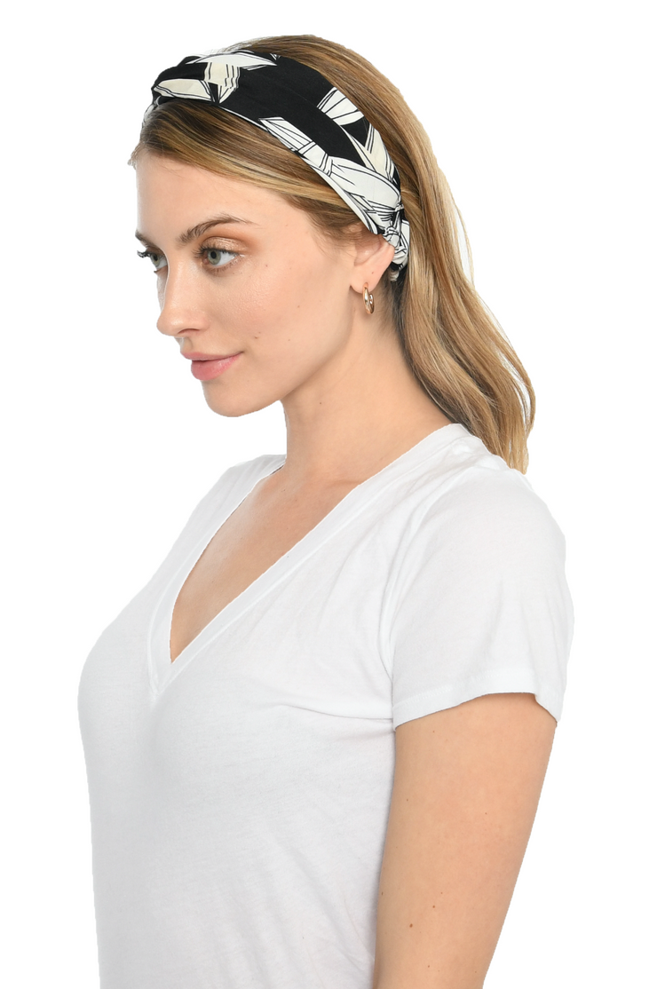 Black and White Twist Womens Headband