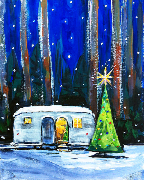 Christmas Tree PRINT on Paper or Canvas,
