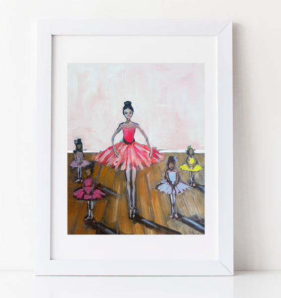 "Ballerina Prints on paper or canvas, ""Dress Rehearsal"""