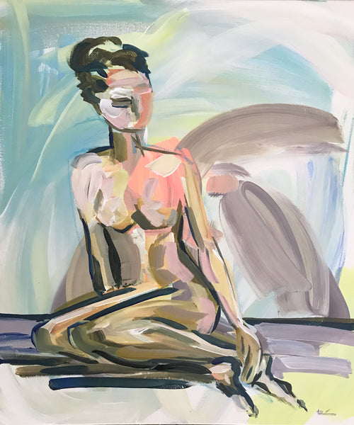 Figure Study, Original painting on canvas,