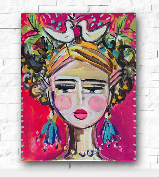 Modern Frida print on paper or canvas