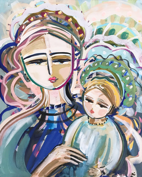 """Mother and Child"" PRINT on Paper or Canvas"