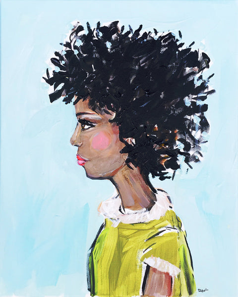 "Portrait PRINT on Paper or Canvas, ""Naomi"""