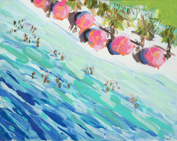 "Landscape Print on Paper or Canvas, ""Overhead Beach"""