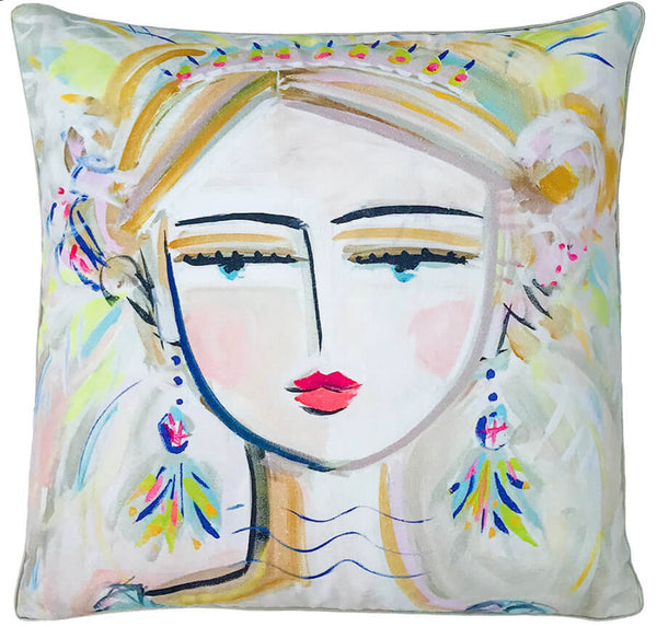"Warrior Girl ""Bo"" Pillow"
