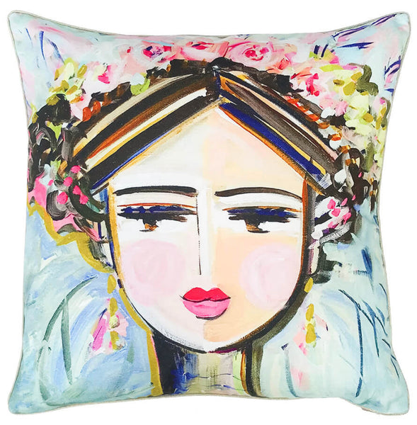 "Warrior Girl ""Hattie"" Pillow"