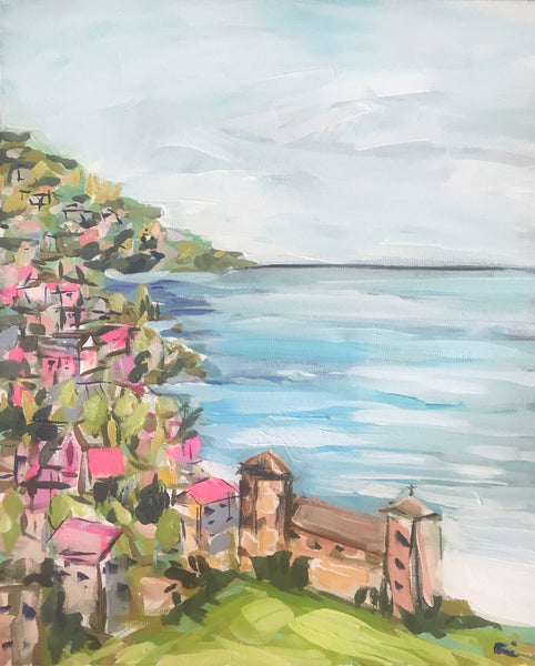 "Italy Beach Print on paper or canvas, ""Positano Morning"""