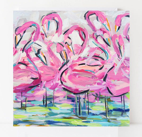 Flamingo Print on paper or canvas,