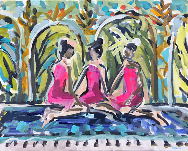 Figurative Print paper or canvas Spa Girls